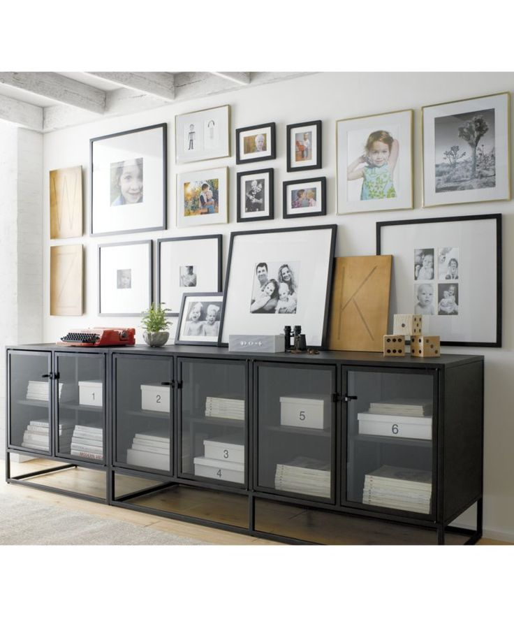 Casement Black Large Sideboard | Crate and Barrel