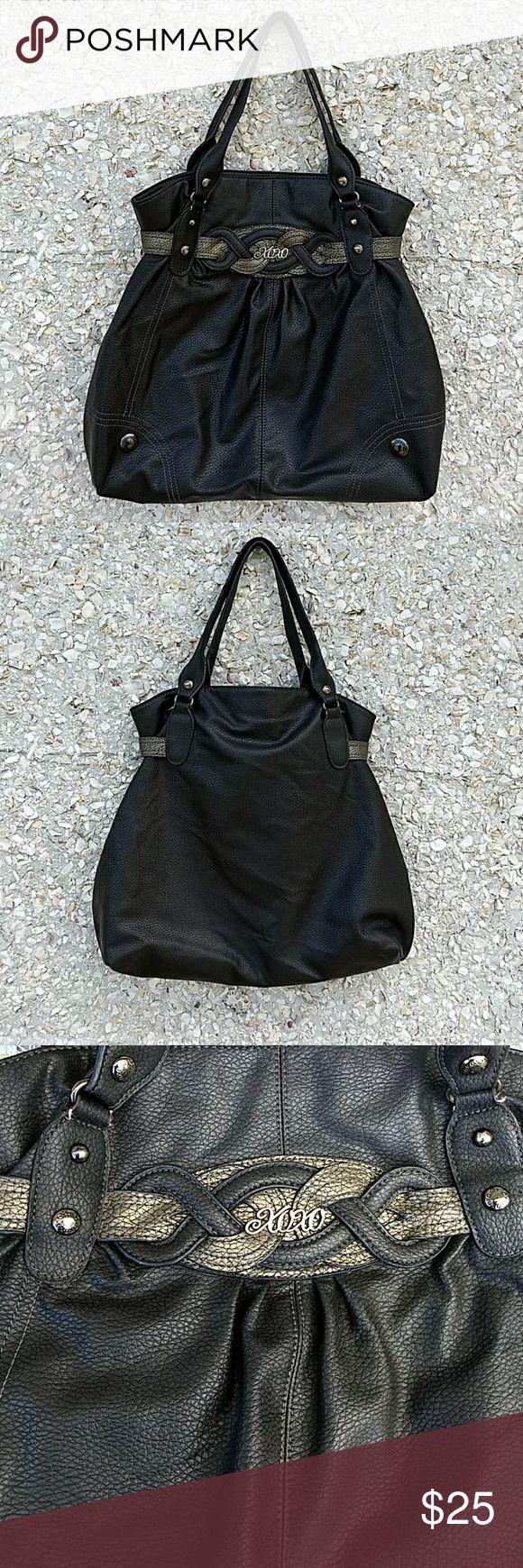 Xoxo shoulder bag Beautiful dark gray and silver shoulder bag.  Good condition with very little wear by one of the handle.  See picture #8 to see the very little wear.   Love offers! Bundle 2 or more items and save 15% All items come from a smoke/pet free home Fast Shipping! No trades Bags Shoulder Bags