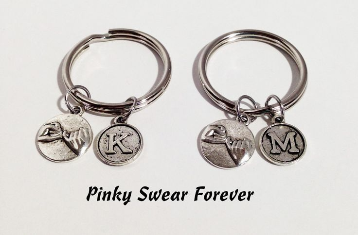 2 Pinky Promise Keychains, Gift Best Friends, Boyfriend Gift, Pinky Promise Keychain, Gift for Boyfriend, Girlfriend Gift, Initial Charm