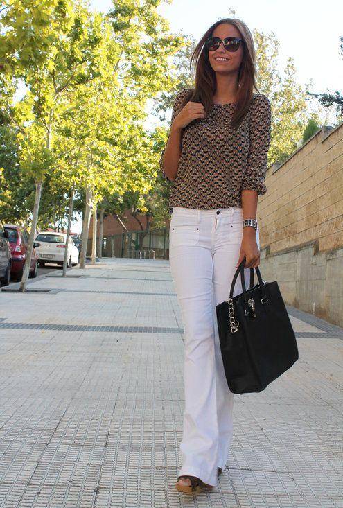 Copia el look: Miranda Kerr  , Primark en Camisas / Blusas, Mango en Pantalones