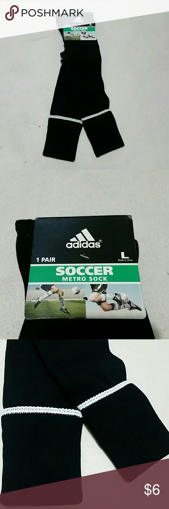 Unisex Metro Soccer Socks 1 pair of soccer socks. Lightweight construction for a closer fit.Compression zone for arch and for stability. Mens & Womens.98% nylon 2% natural latex. Adidas Underwear & Socks Athletic Socks