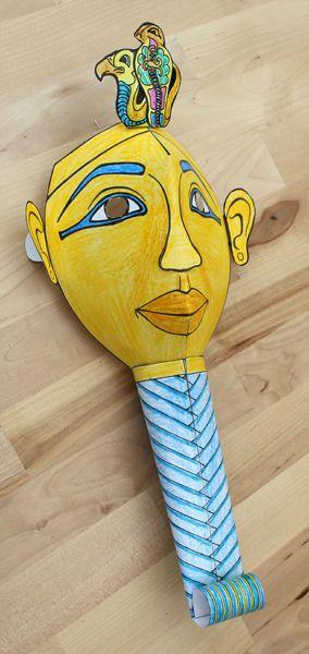 Egyptian mummy mask costume DIY
