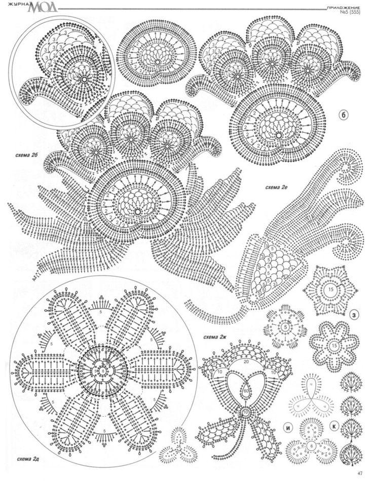 Russian Crochet Diagrams | Russian Crochet Knitting Patterns Book Wedding Dress CardiganFashion ...