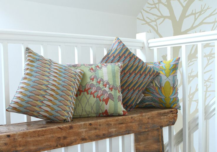 Linen cushions by Morag Macpherson http://www.craftscotland.org/profile/648/morag-macpherson/