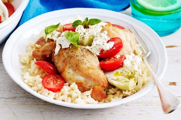 One-pan Greek chicken with rice main image