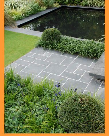 Elegant This Is The Look You Would Get With Dark Pool Tiles And Bluestone Paving.  Note Also The Paving Detail Using Different Sized Pavers (applicable To  Your ...