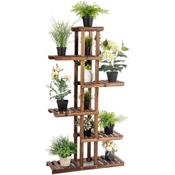 3 Tier wood Plant Shelf Rack Garden Balcony Corner Flower Pots Display Stand