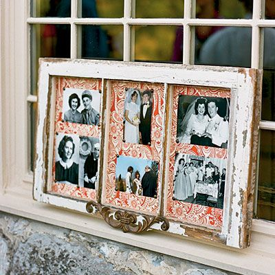 9 best images about emily 39 s wedding on pinterest glass for Using old windows as picture frames