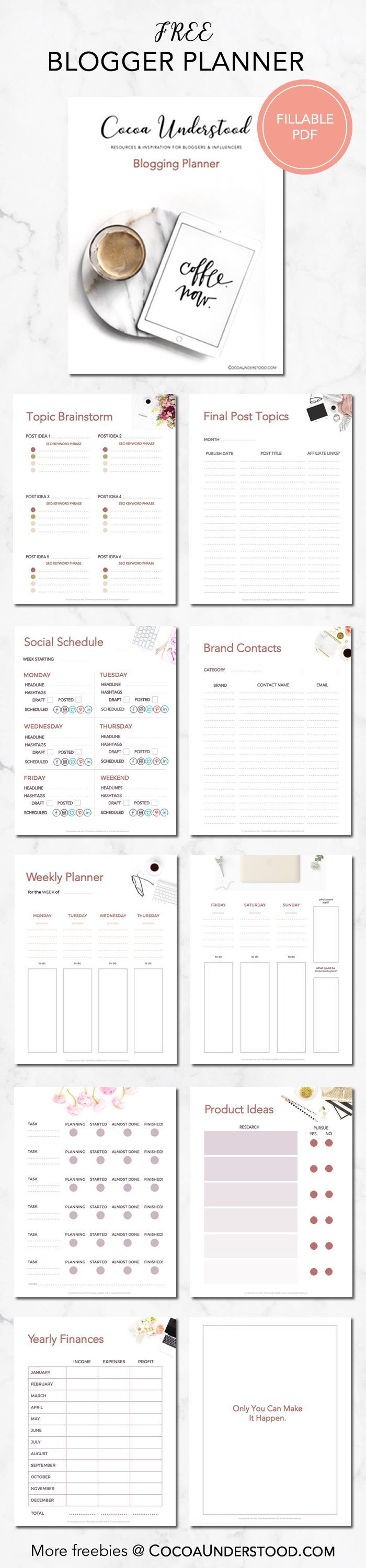 These tips will help you develop, create, write and schedule your blog posts. Also, grab your FREE blogging planner (printable or fillable pdf) here: http://www.cocoaunderstood.com/how-to-plan-blog-posts