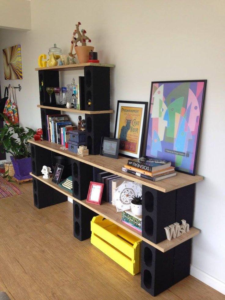 Las 25 mejores ideas sobre estantes de bloques de cemento for Mueble y algo mas