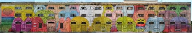 50 building windows turned into eyes in this massive mural in rome » Lost At E Minor: For creative people