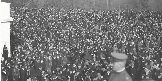 Unknown Soldier of World War I -   Attendees at the burial of the Unknown Soldier.  United States Army Photo