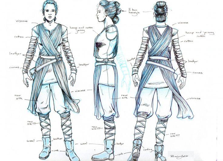 For Gracie's halloween costume Star Wars: The Force Awakens Rey Costume Turnaround