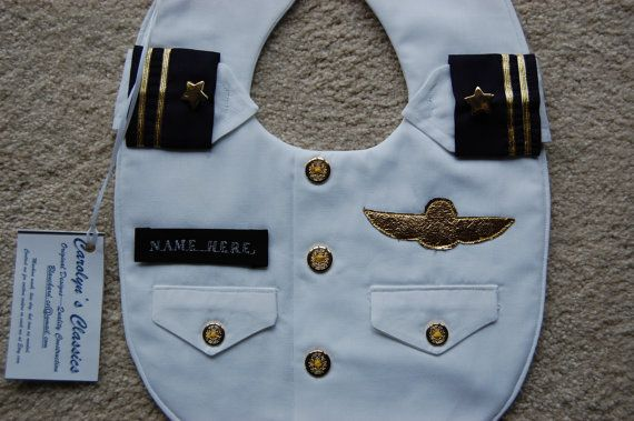 Military Dress Whites Bib An Officer and by CarolynsClassics