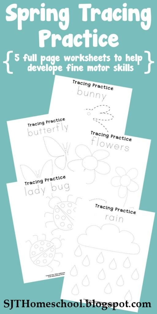See Jamie Teach Homeschool: Spring Tracing Practice Pages (You've got to click on the link below the pic but it opened fine for me. They look great.)