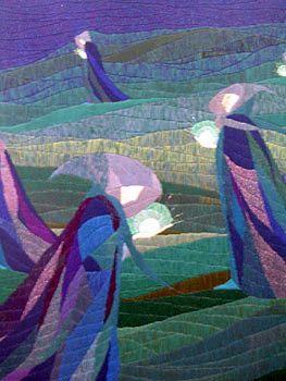 Arazzo laura m cambellotti su disegno per vetraa d.cambellotti le lucciole