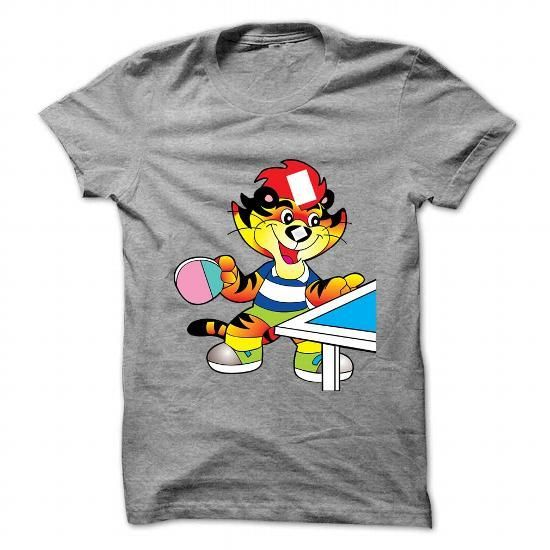 Cartoon tiger playing table tennis - Hot Trend T-shirts