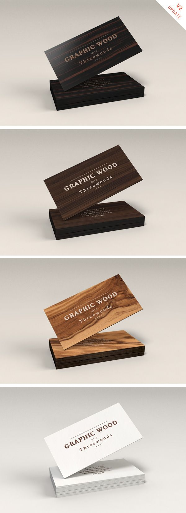Here's a PSD mock-up designed for those who love the natural look and feel of wooden business cards...