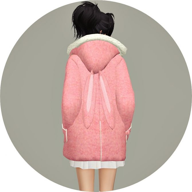 ACC Rabbit Hood Duffle Coat at Marigold via Sims 4 Updates