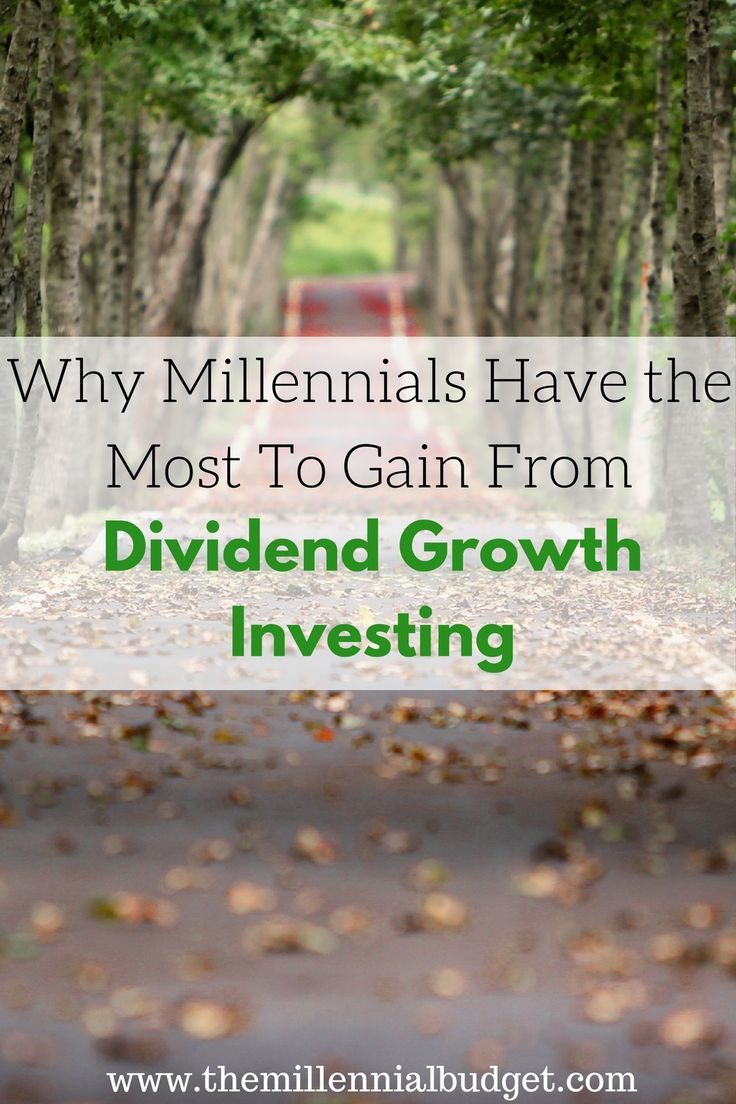 If you are young and want to get rich over time this post is for you! Millennials have the most to gain from dividend growth investing as we have…