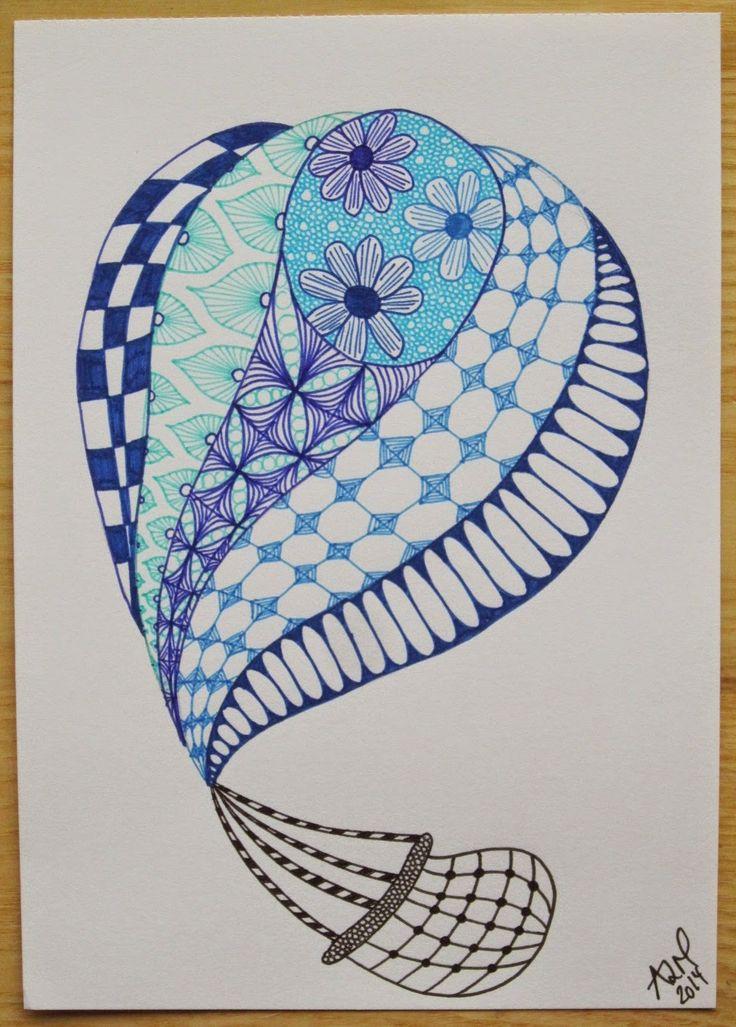 Glaphuset: Varmluftballoner i smukke mønstre.