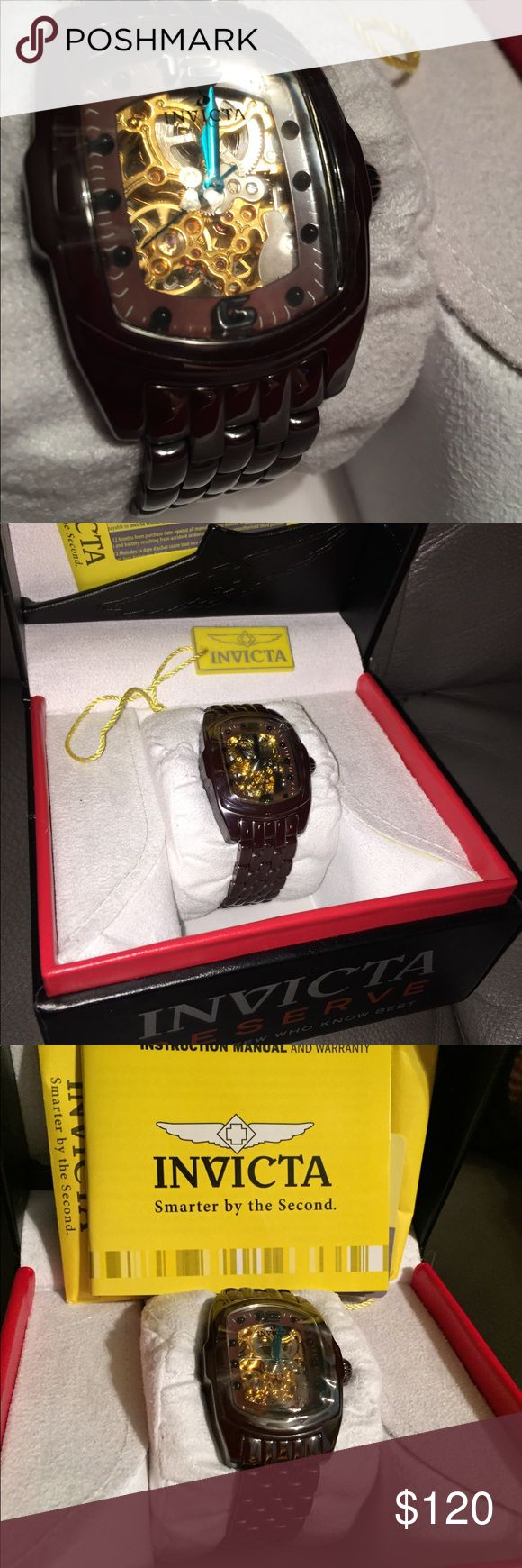 Invicta Lupah women's watch Never worn, still has plastic on the face.  Metallic brown band Invicta Accessories Watches
