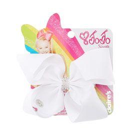 Jojo Siwa Small Rhinestone Keeper White Hair Bow