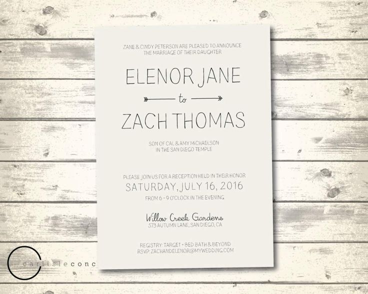 Casual Wedding Invitation Wording - http://onlineweddinginvitations.net/127/casual-wedding-invitation-wording/