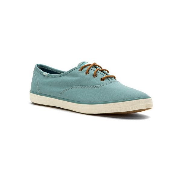 Keds Champion  Sneakers (£36) ❤ liked on Polyvore featuring shoes, sneakers, dusty blue, keds shoes, grip shoes, canvas lace up sneakers, laced shoes and oxford lace up shoes
