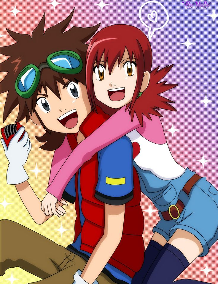 Angie/ Akari In the Video Game Digimon Story Super Xros