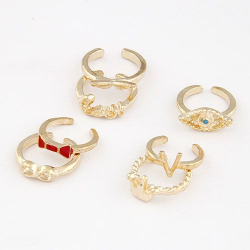 Mid Finger Ring, Zinc Alloy, finger ring, real gold plated