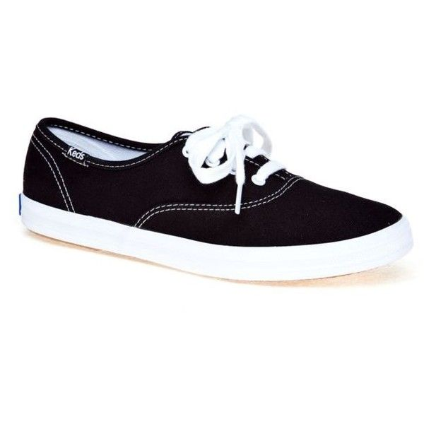 Keds  Champion Oxford Canvas Sneaker ($40) ❤ liked on Polyvore featuring shoes, sneakers, black, oxford shoes, canvas sneakers shoes, keds, black shoes and oxford sneakers