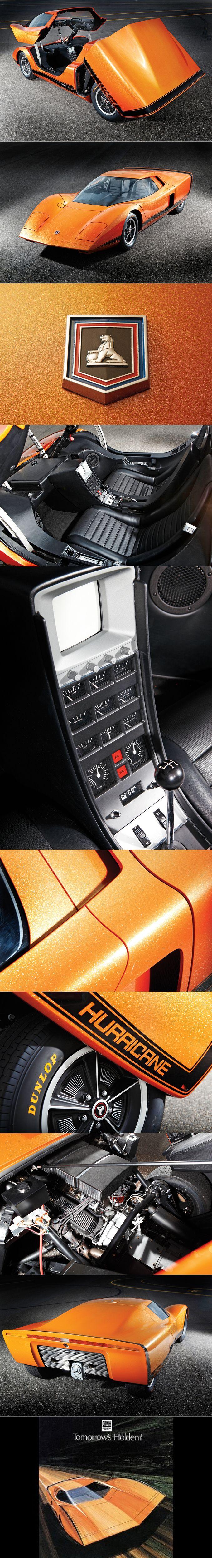 1969 Holden Hurricane / 4.1l 280hp V8 / concept / Australia / orange black