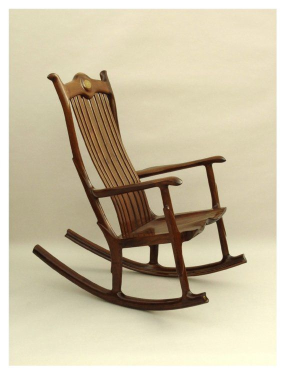 Custom Handmade Wood Seat Rocking Chair Amazing Ideas