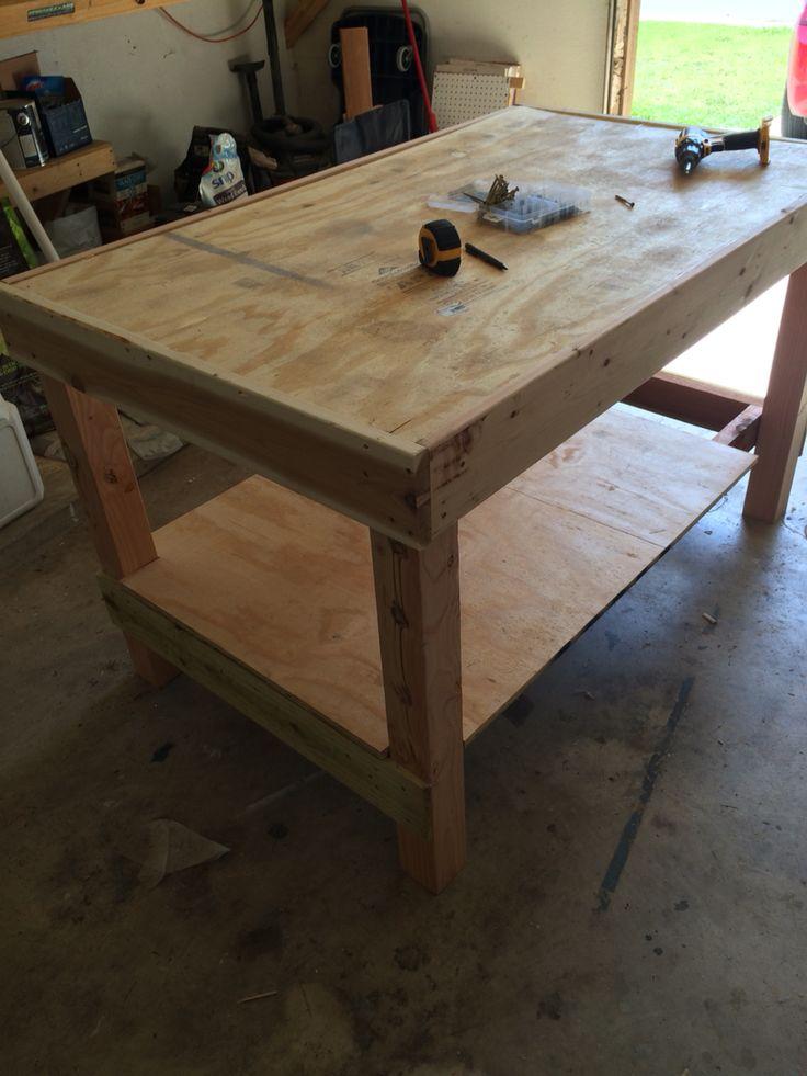 Work bench / cedar scented garage air freshener.  Table #3