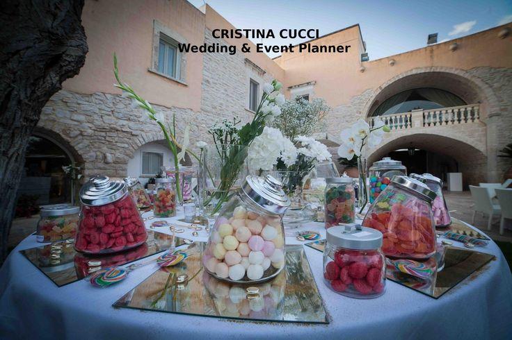 Candybar con specchi e fiori per il wedding day di T&N :)