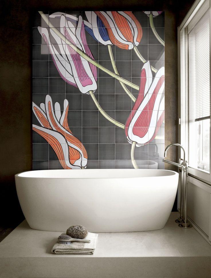 piastrelle ceramiche linea Tuli-art, designer Ronald Van Der Hilst.