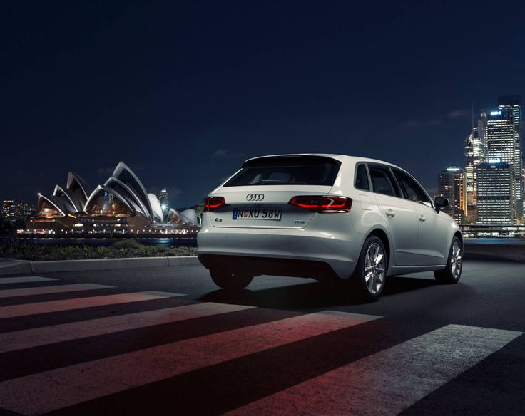 The Audi Sportback, by night at the Sydney Opera House. #Audi #A3SB #AudiA3SB #Sydney #Australia