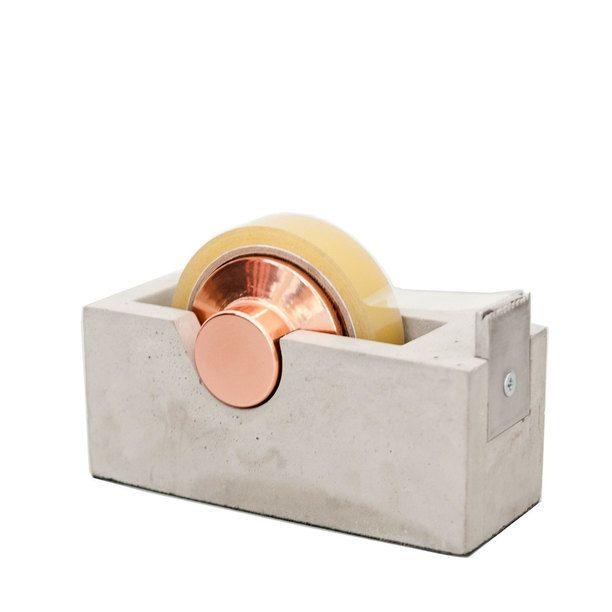 Akita Tape Dispenser brown, grey, workspace
