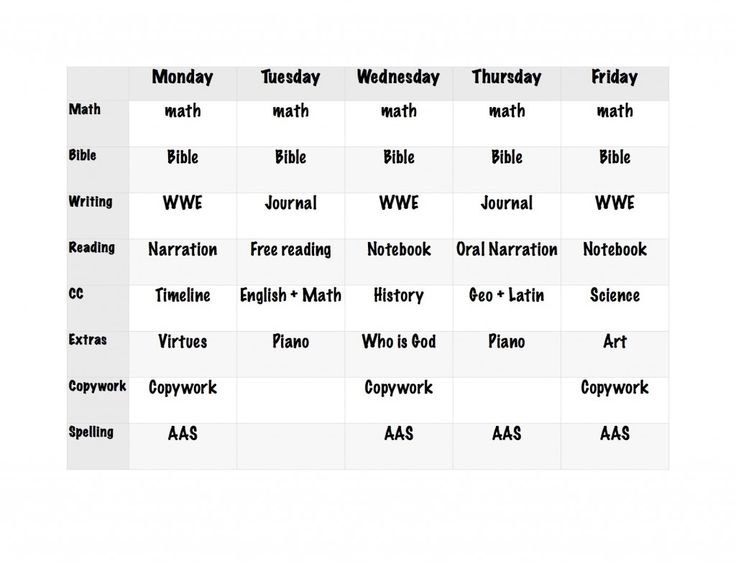 Our Daily Homeschool Schedule Homeschool, Outdoor play and - work schedule