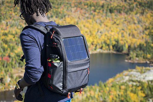 Вольтомагнитный массив и Offgrid солнечные рюкзаков заряд передач на ходу: Цифровая фотография Обзор
