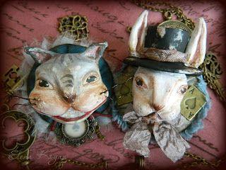 Alice in Wonderland brooches, by Elena Kogan