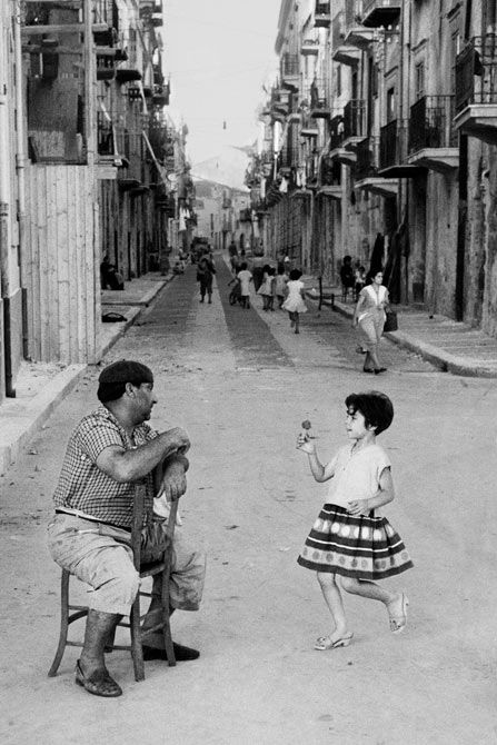 """Sellerio, Cefalù (province of Palermo, Sicily), 1958.  """"Enzo Sellerio (1924-2012) was a Sicilian photographer, publisher, and collector."""" Wikipedia"""