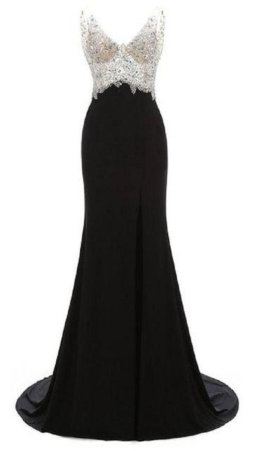 Luxury Rhinestones Prom Dresses 2016 Vestidos De Formatura Sexy Side Slit Backless Long Evening Party Dresses Celebrity Dresses