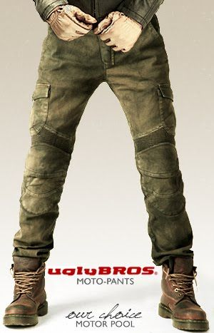 Cool kevlar pants intended for riding,  they are durable and warm.
