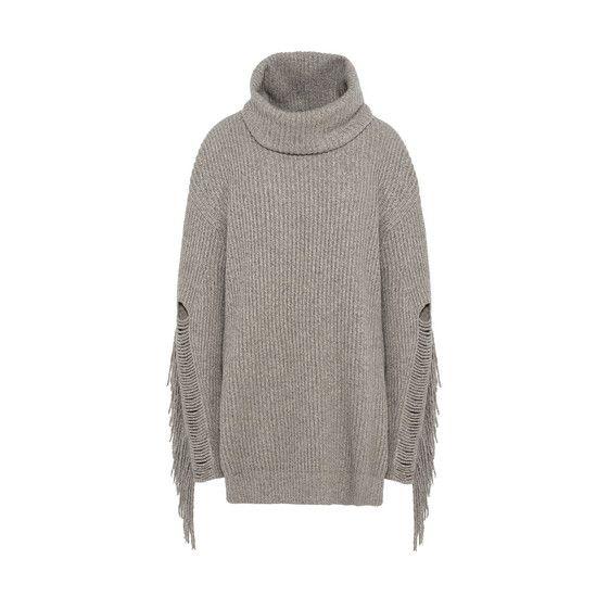 STELLA MCCARTNEY Large Volume Fringe Sweater. #stellamccartney #cloth #rollneck