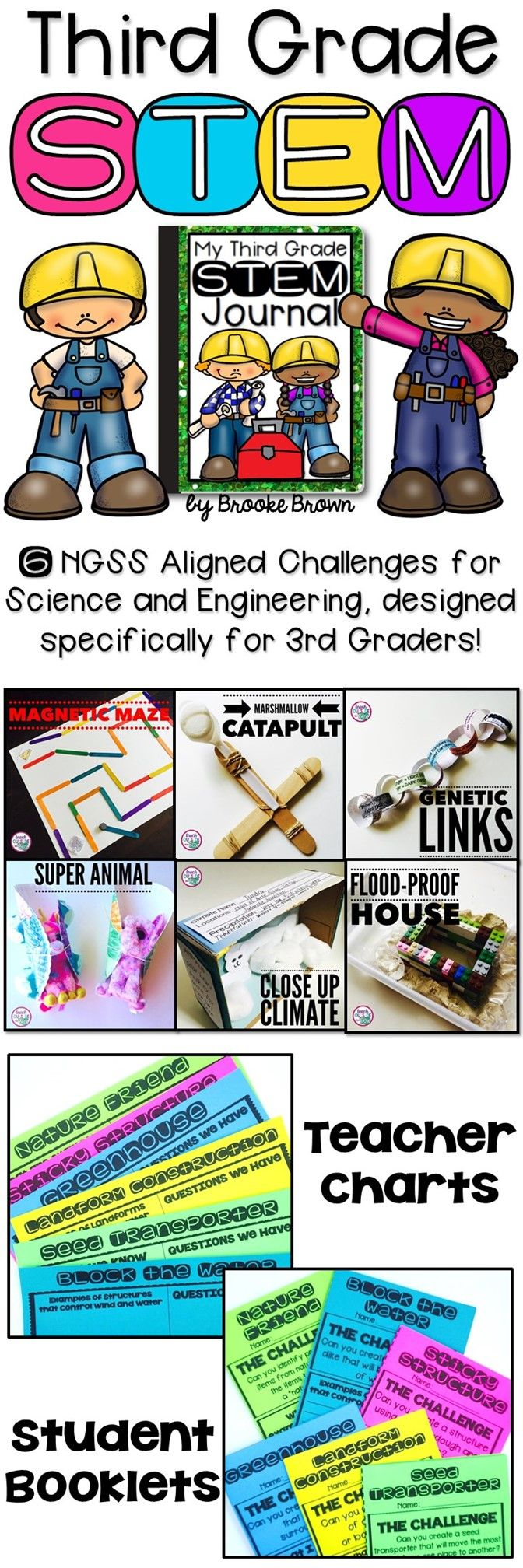 6 NGSS Aligned STEM Challenges designed specifically for 3rd Graders! Science and Engineering Activities