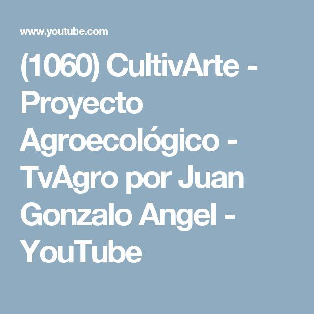 (1060) CultivArte - Proyecto Agroecológico - TvAgro por Juan Gonzalo Angel - YouTube