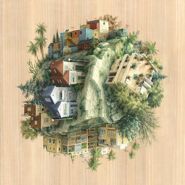 By ariadna zierold barcelona based artist and illustrator cinta vidal agulló defies gravity and architectural