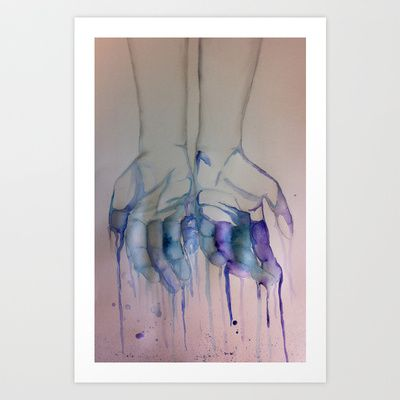 Melting Art Print by Courtney Williams - $15.00